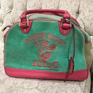 Medium juicy couture dog carrier